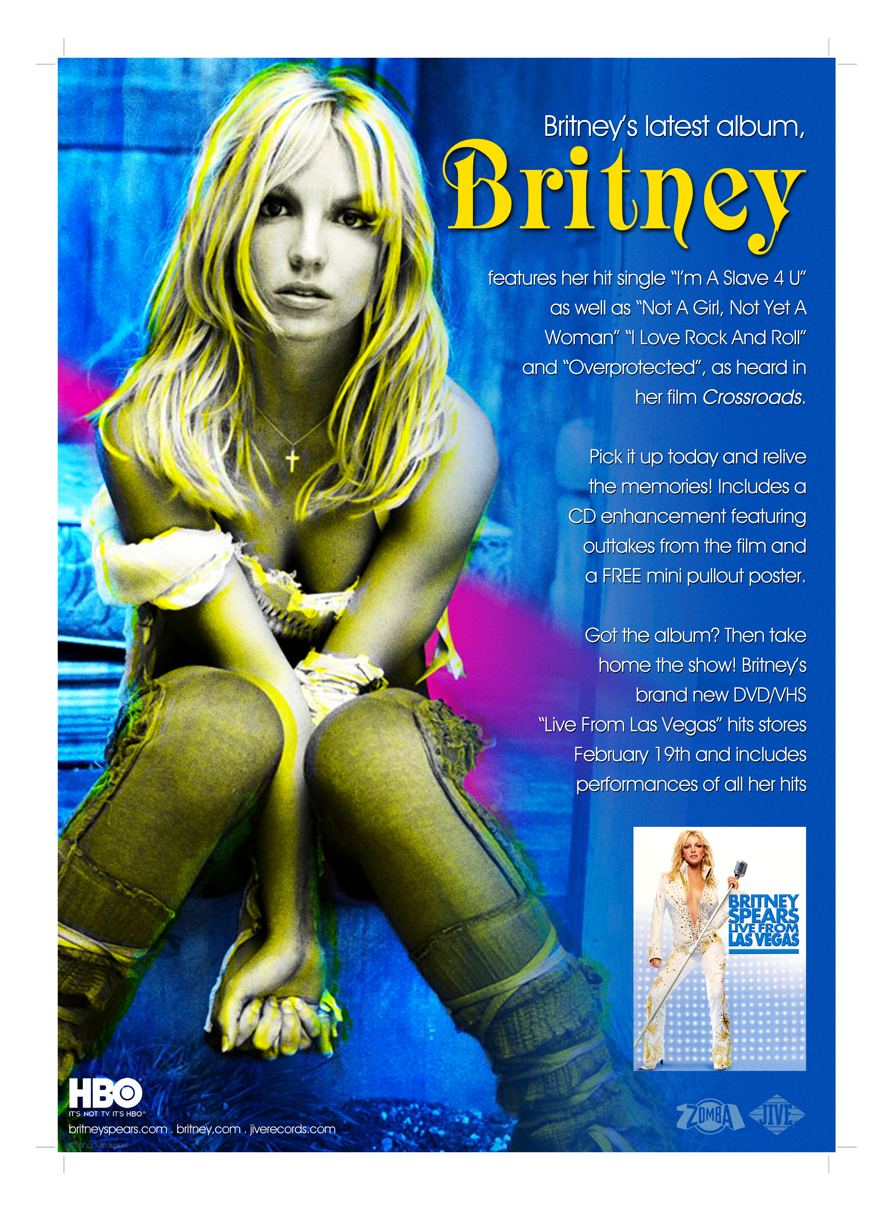Britney Spears Live From Las Vegas Dvd Poster By Popcultureposters On Deviantart