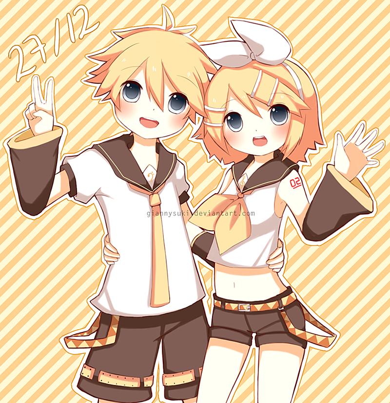 HBD Rin and Len by giannysuki