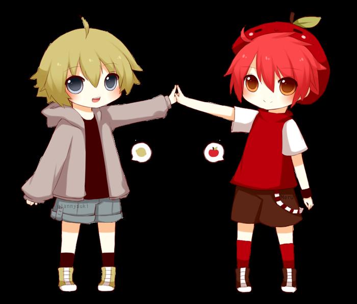 Aki and Yuu by giannysuki