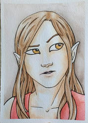Rune watercolour portrait by naghree-tales