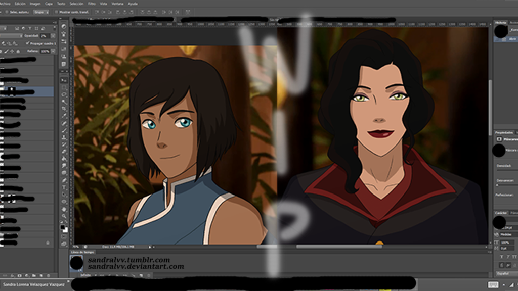 Korra and Asami Video Comic WIP by SandraLVV