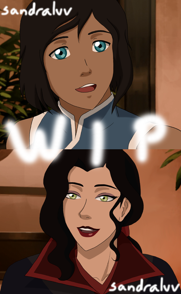 Korra and Asami Video Comic WIP #2 by SandraLVV