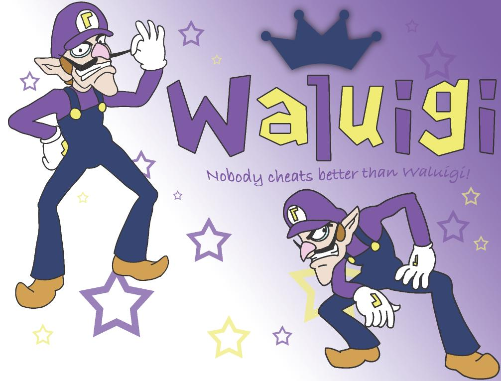 Waluigi Wallpaper by sorta-out-there