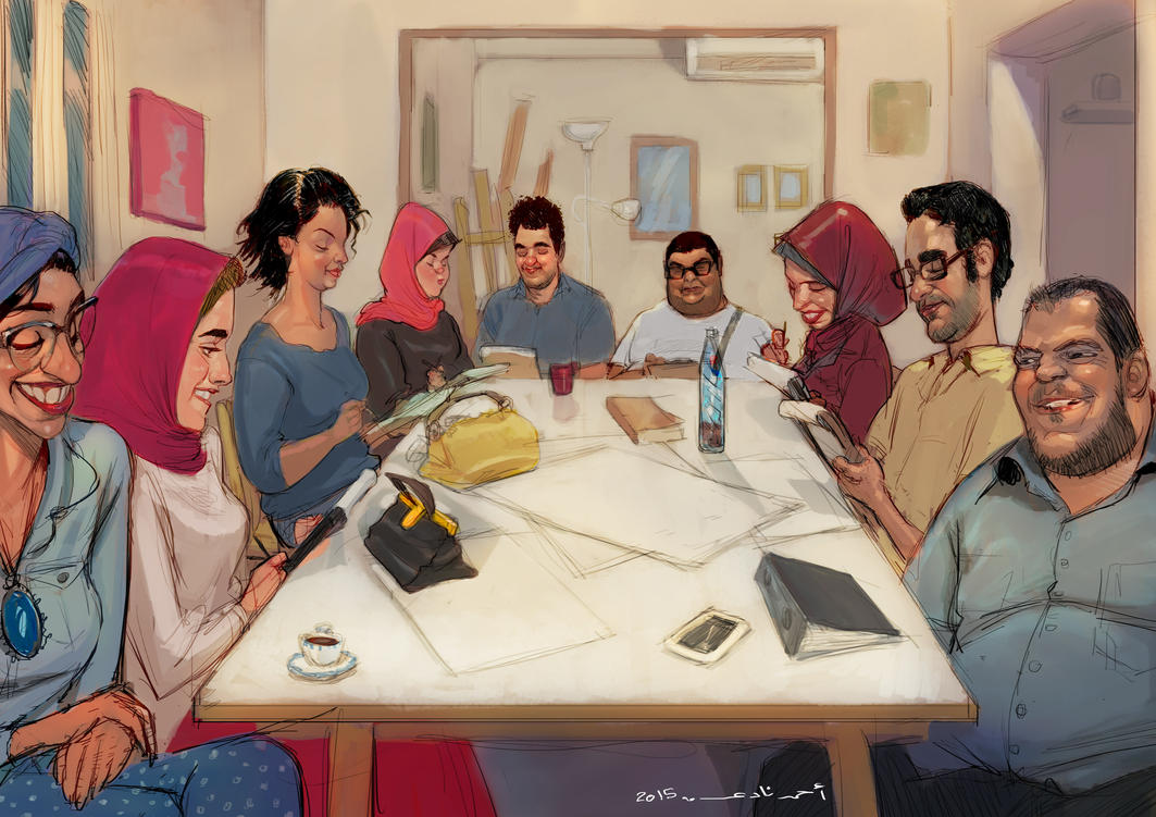 My students in my drawing cours by ahmad-nady