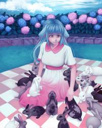 Castia with Bunnies