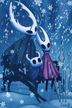 Winter Hollow Knight Commission
