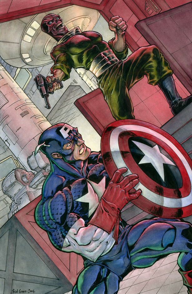 Captain America vs. Red Skull by bgreen907