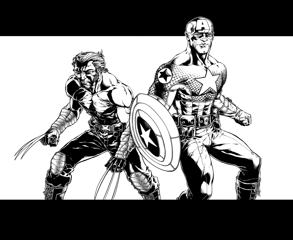 Captain America And Wolverine By Bgreen907 On Deviantart
