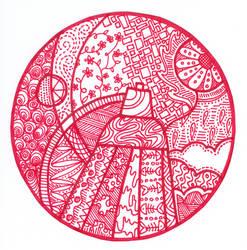 Shed Some Light Zendala by sweaterbrau