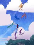 Menolly and Fire Lizards by Maseiya