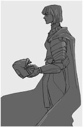 Profile of a Lady Knight by Maseiya