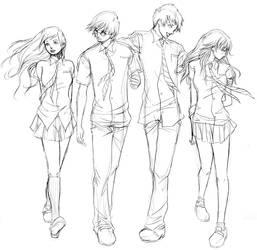 HP Quartet Sketch by Maseiya