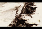 Avatar Aang Sketch by Maseiya