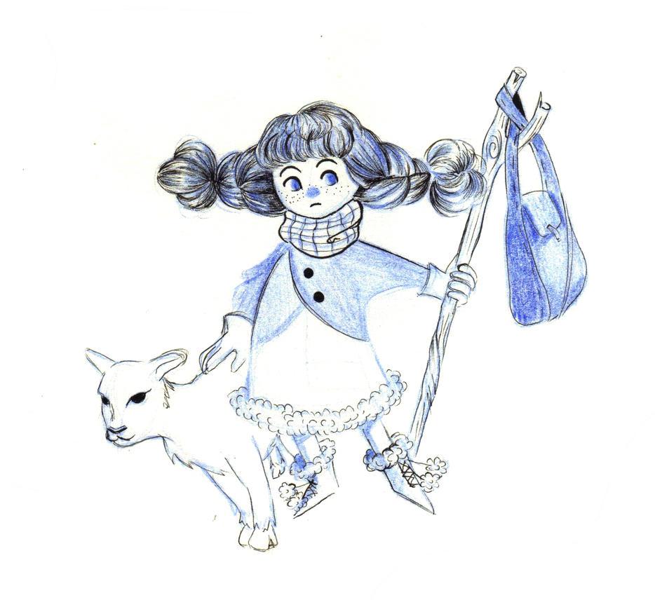 Little girl by Jeananas
