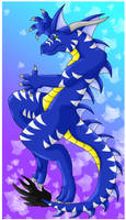 Blue and White Wind by KeruriDerago