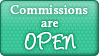 Commission Open Button by SparkleStuff