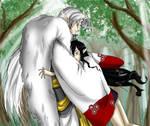 Fanart: Sesshoumaru x Yume by Adella