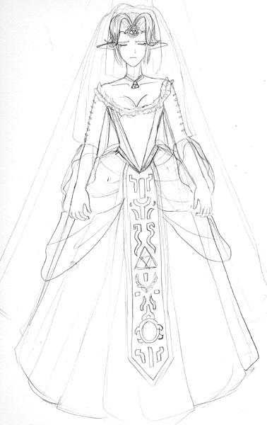 Malon 39 s wedding dress by adella on deviantart for Legend of zelda wedding dress