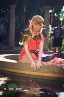 TZP: Zelda Resting in the Garden by Adella