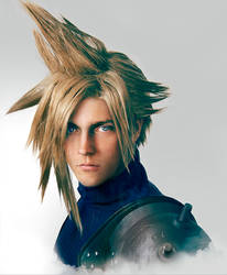Cloud Strife Cosplay Portrait by Adella