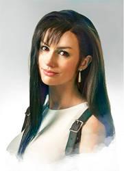 Tifa Lockheart Cosplay portrait by Adella