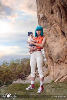 Bulma and Baby Trunks Cosplay
