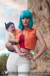 Bulma and Baby Trunks Cosplay