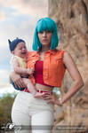 Bulma and Baby Trunks Cosplay by Adella
