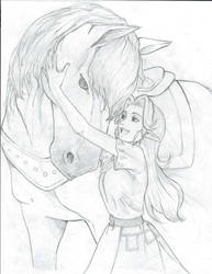 Malon and Epona from Ocarina of Time