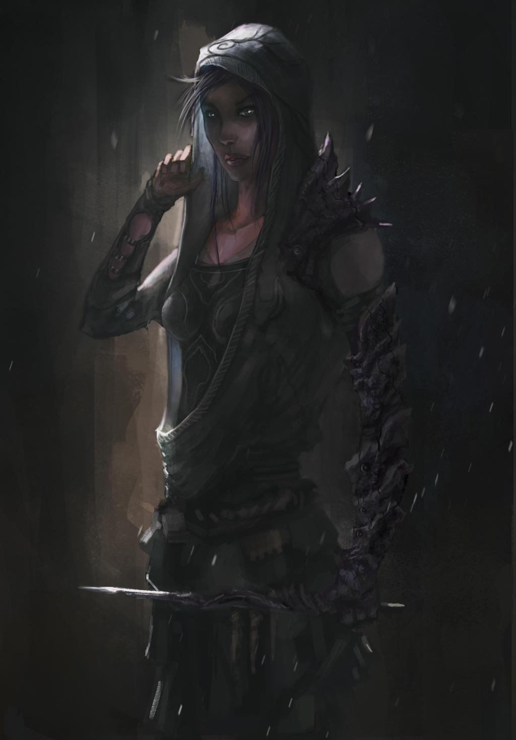 Elf Character- Black Song Female