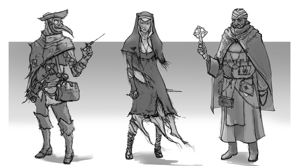 Character Design Wallpaper : Healer character design by chanmeleon on deviantart