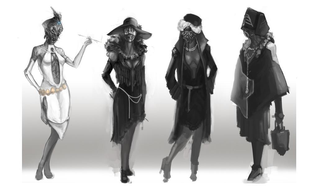 Female Flapper Alien design-Costume
