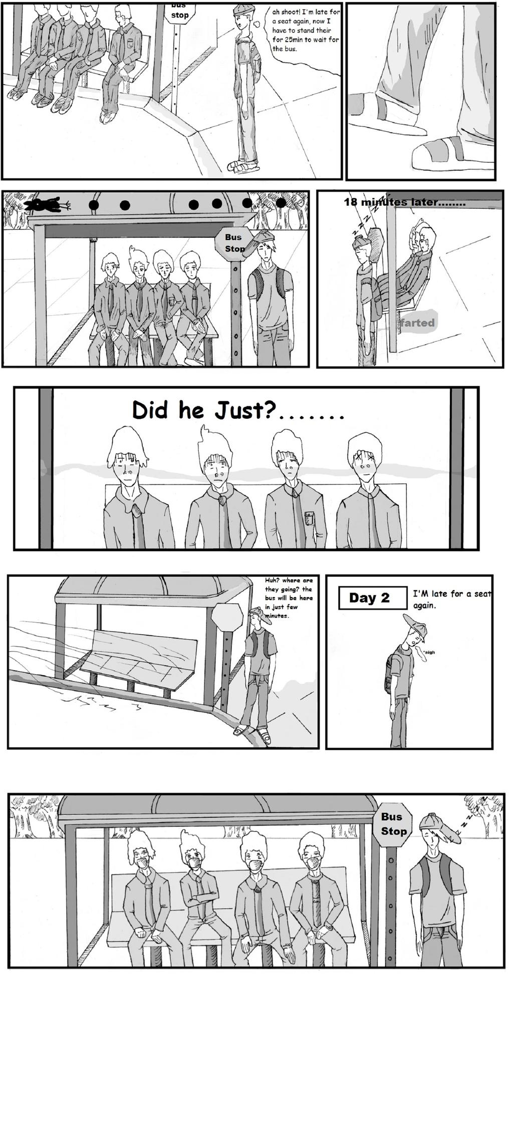 I farted...(comic strip.) by kongqian7