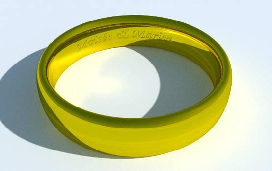 caustics on metal ring