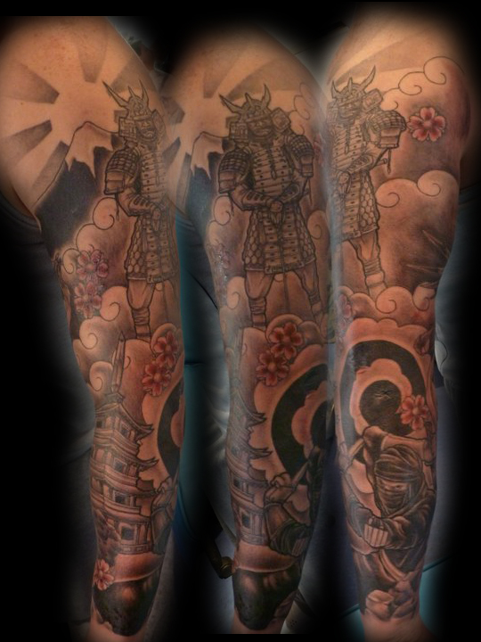 Japanese Samurai Tattoo Sleeve Picture 1