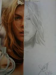 Model Half Face [Art 2 assignment] by zill4