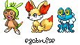 Pokemon XY: Starters by egobruise