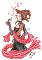 La Sorciere de Halloween by Songes-et-crayons