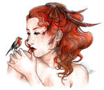 Ladyrobin by Songes-et-crayons