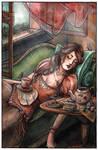La belle au the dormant by Songes-et-crayons