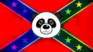 Confederate Rainbow Panda Flag by Mandike13