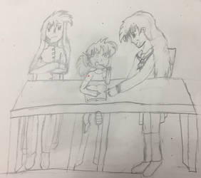InuYasha, Shippo, Kagome (In the Future Part 4) by traycon300