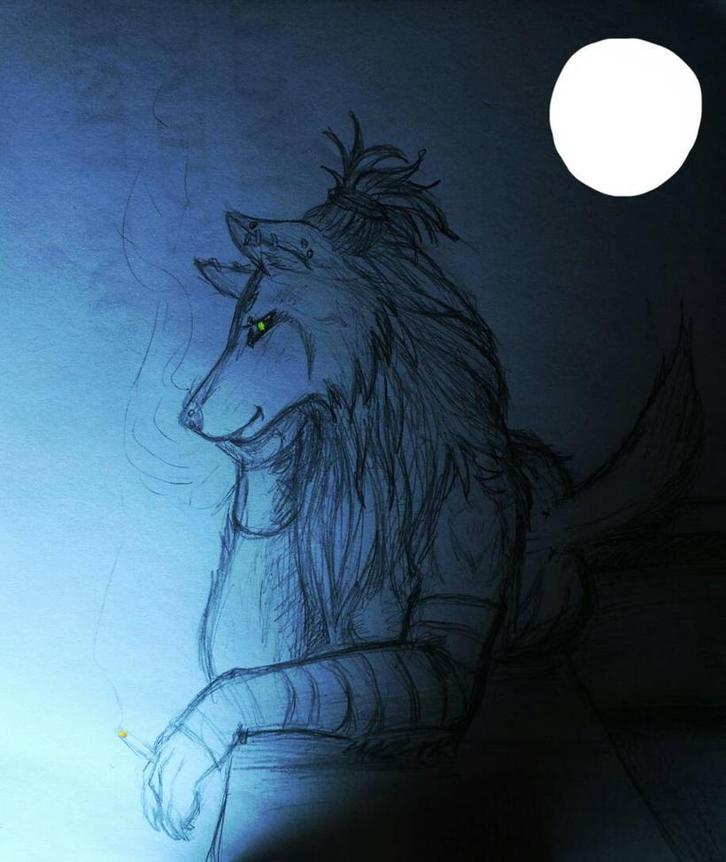 Akasha on patrol by anubis-x
