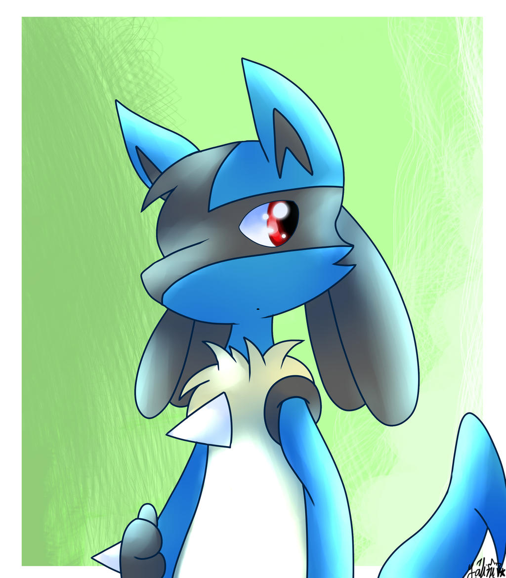 Gift] Lucario by DragonFG28 on DeviantArt