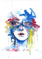 Abstract Watercolour 5 (scanned) by tsukiko-kiyomidzu