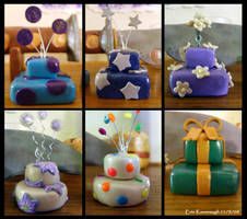 2 Tiered Clay Cakes 1 - 6 by Noviel