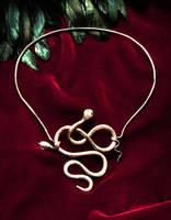 Snake on Red by syprina