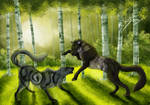 through the shadows of the forest by Chrystal-Art