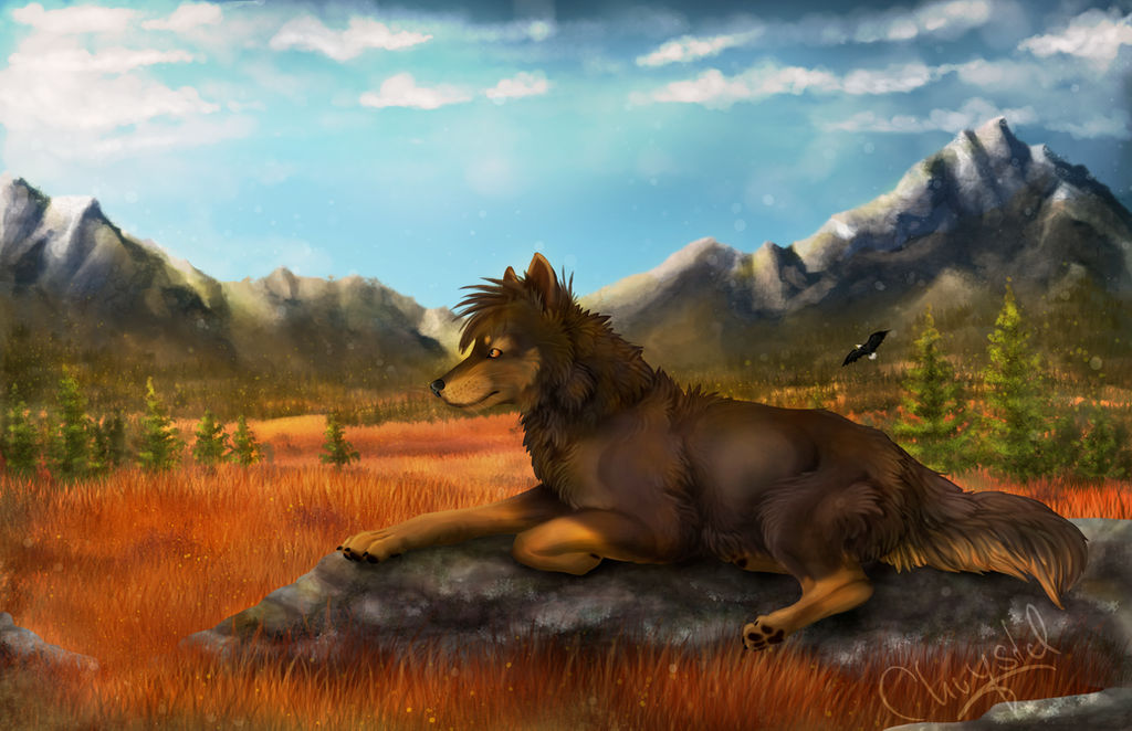The wolf of the tundra - YCH by Chrystal-Art