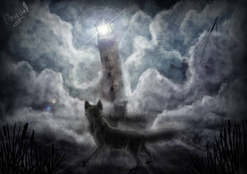 Cone of light by Chrystal-Art